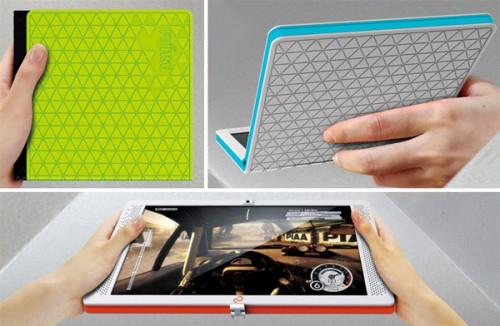концептуальный складной ноутбук Fujitsu Flexbook