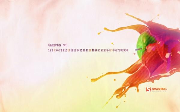 обои с календарем на сентябрь