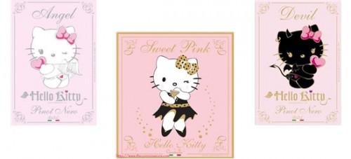 вино и шампанское Hello Kitty