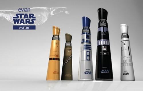 Коллекционные бутылки Evian в стиле Star Wars
