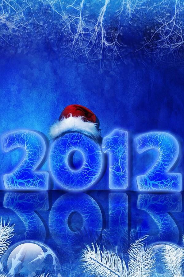 iPhone новогодние обои 2012