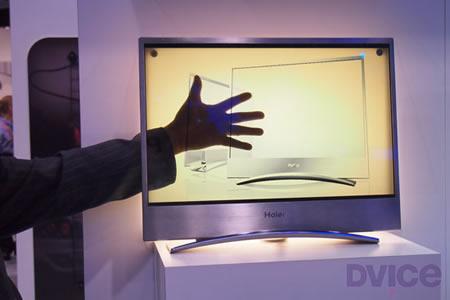 прозрачный телевизор Haier