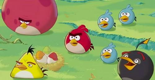 анимационный мальтик Angry Birds
