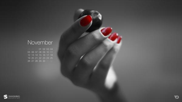 обои с календарем на ноябрь