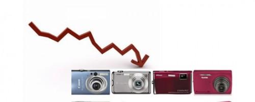 продажи компактных цифровых камер
