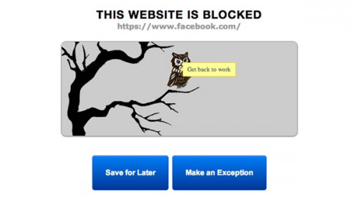 приложение Productivity Owl для Google Chrome