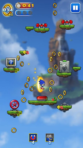 Android игра Sonic Jump скриншоты
