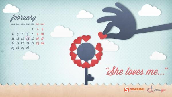 красивые обои День Валентина