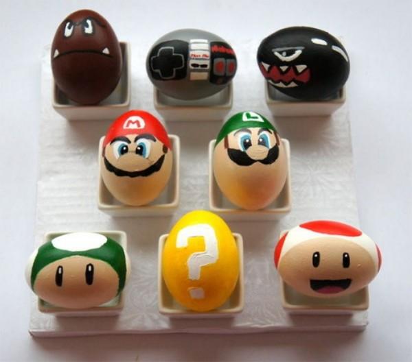 пасхальные яйца в стиле Mario