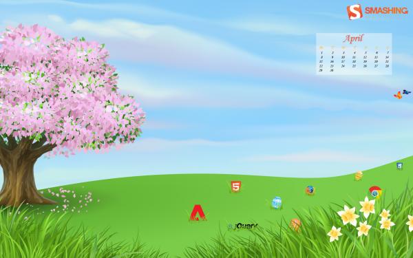 красивые обои весна апрель
