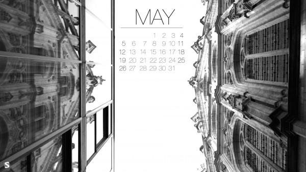 стильные обои с календарем на май