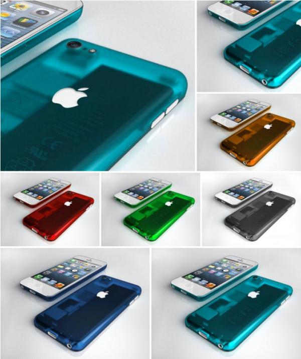 цветной пластиковый iPhone