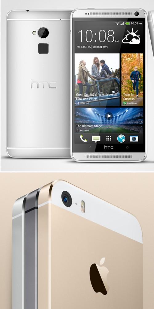 HTC One Max против iPhone 5S