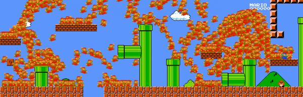 974 человека играют в Super Mario Bros одновременно