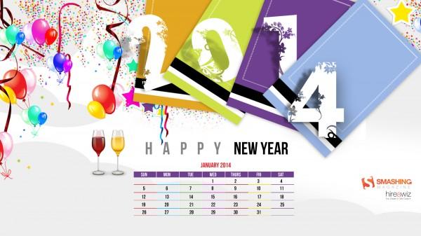 новогодние обои январь 2014
