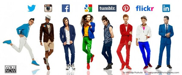социальные сети в виде парней