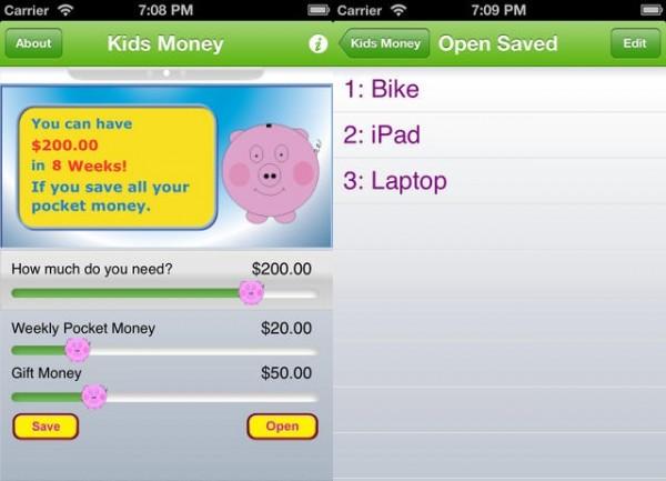 приложение для детей Virtual Piggy