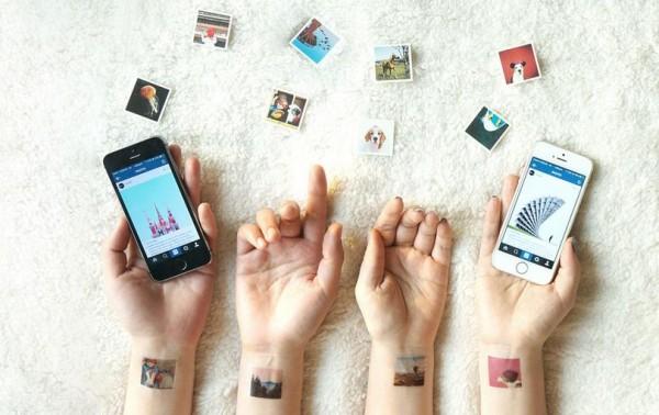 временные татуировки из фотографий Instagram