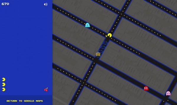 Pac-Man на Google Maps